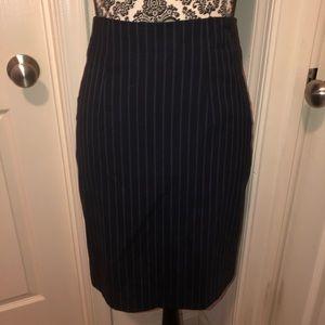 Pinstriped pencil skirt